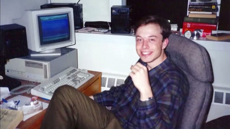 Young Elon Musk.