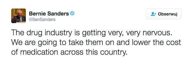 Bernie Sanders Twitter account